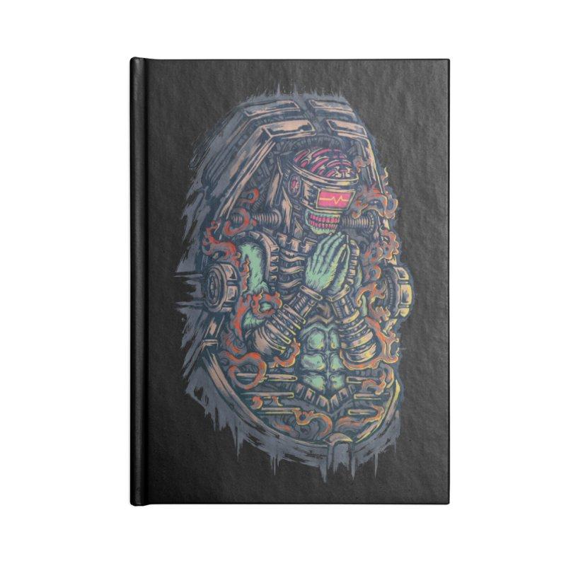 Cyborg Pray Accessories Notebook by villainmazk's Artist Shop