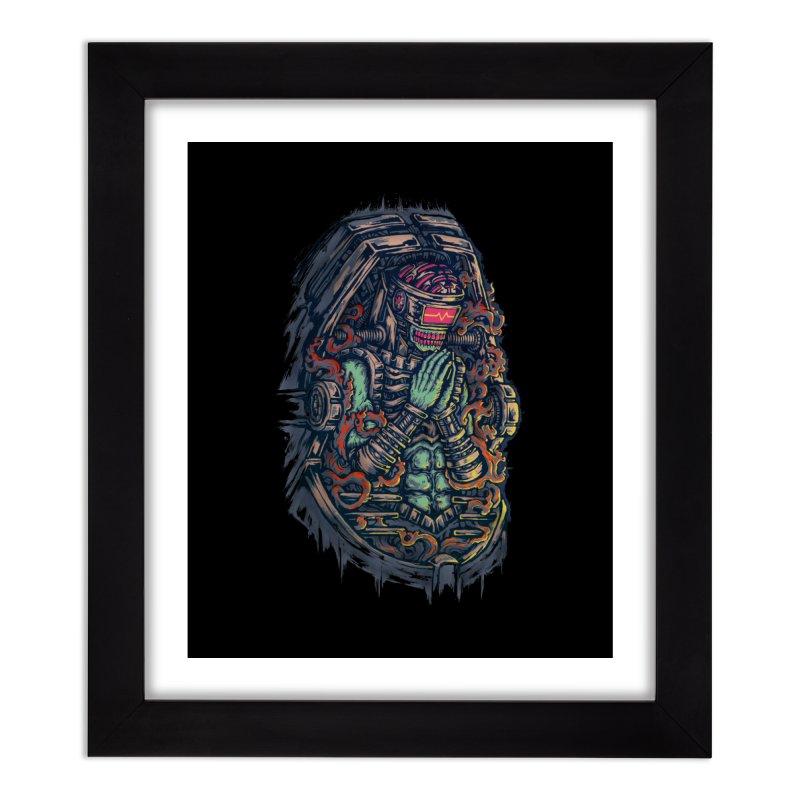 Cyborg Pray Home Framed Fine Art Print by villainmazk's Artist Shop