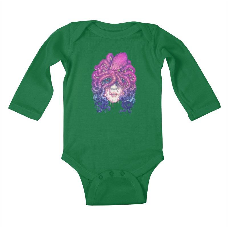 Dark Queen of The Deep Sea Kids Baby Longsleeve Bodysuit by villainmazk's Artist Shop