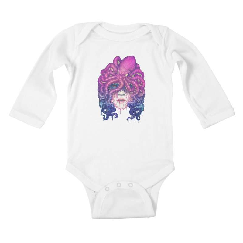 Dark Queen of The Deep Sea Kids Baby Longsleeve Bodysuit by villainmazk's Artist Shop