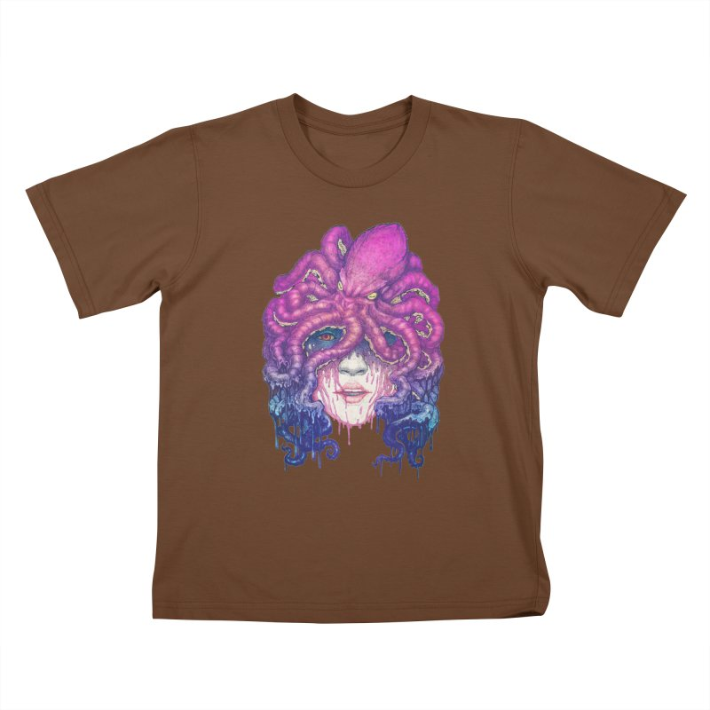 Dark Queen of The Deep Sea Kids T-shirt by villainmazk's Artist Shop