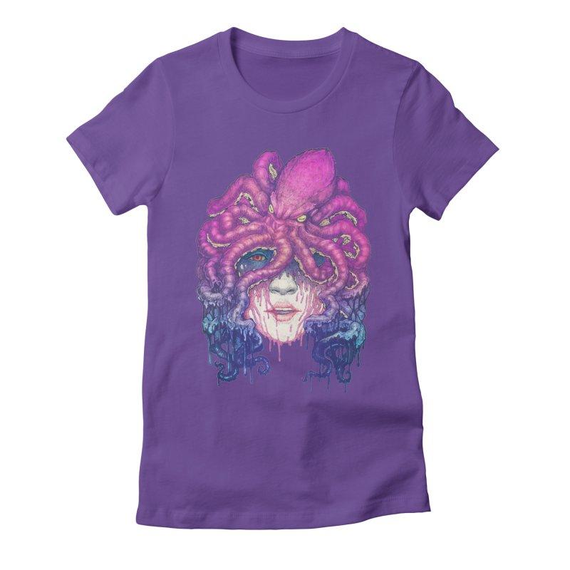 Dark Queen of The Deep Sea Women's Fitted T-Shirt by villainmazk's Artist Shop