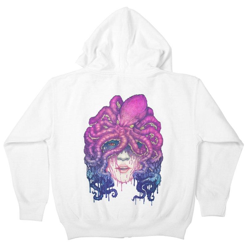 Dark Queen of The Deep Sea Kids Zip-Up Hoody by villainmazk's Artist Shop
