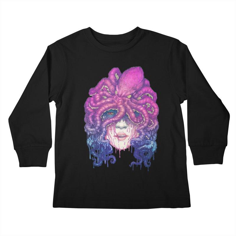 Dark Queen of The Deep Sea Kids Longsleeve T-Shirt by villainmazk's Artist Shop