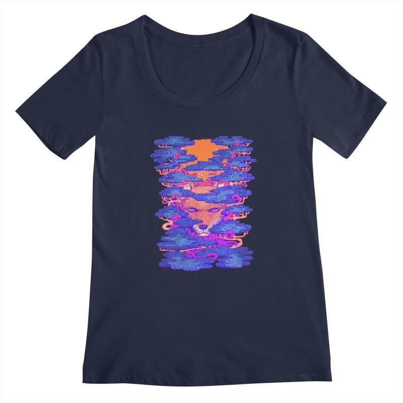 Fox in the Woods Women's Scoopneck by villainmazk's Artist Shop