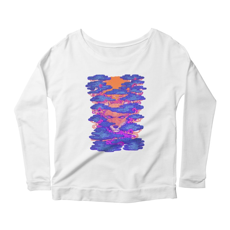 Fox in the Woods Women's Longsleeve Scoopneck  by villainmazk's Artist Shop