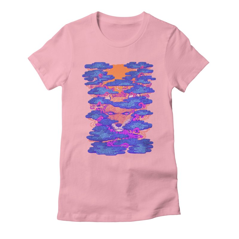Fox in the Woods Women's Fitted T-Shirt by villainmazk's Artist Shop