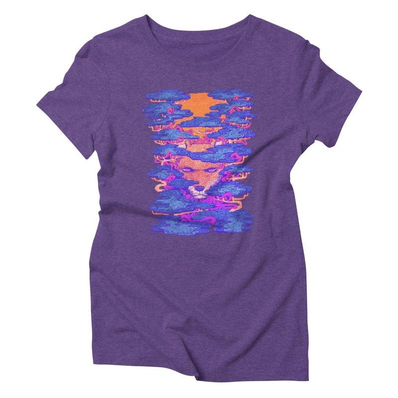 Fox in the Woods Women's Triblend T-shirt by villainmazk's Artist Shop