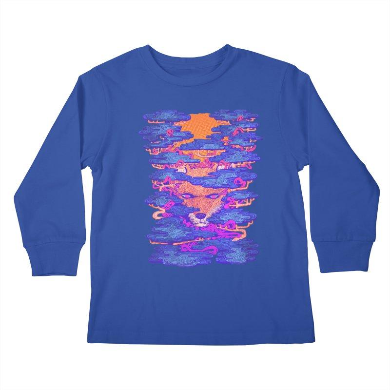Fox in the Woods Kids Longsleeve T-Shirt by villainmazk's Artist Shop
