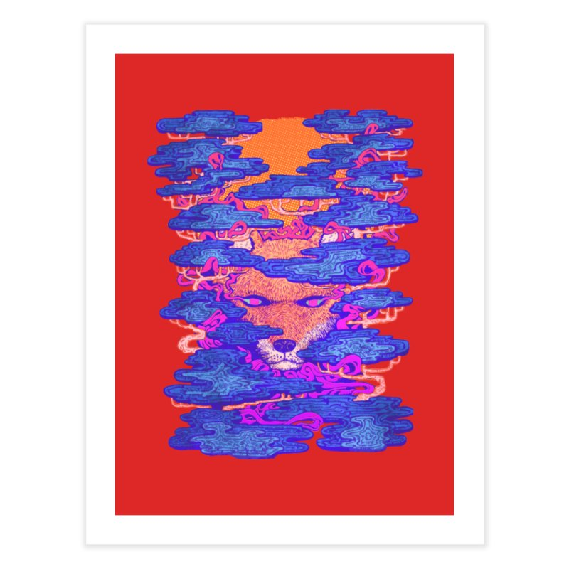 Fox in the Woods Home Fine Art Print by villainmazk's Artist Shop