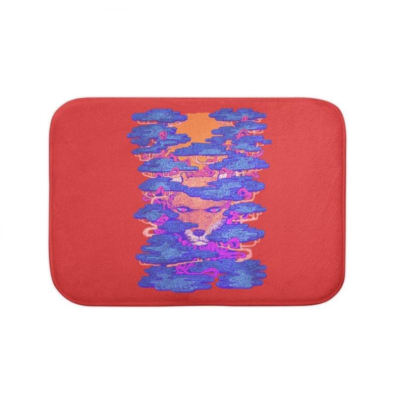 Fox in the Woods Home Bath Mat by villainmazk's Artist Shop