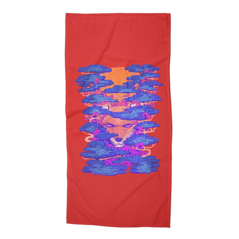 Fox in the Woods Accessories Beach Towel by villainmazk's Artist Shop