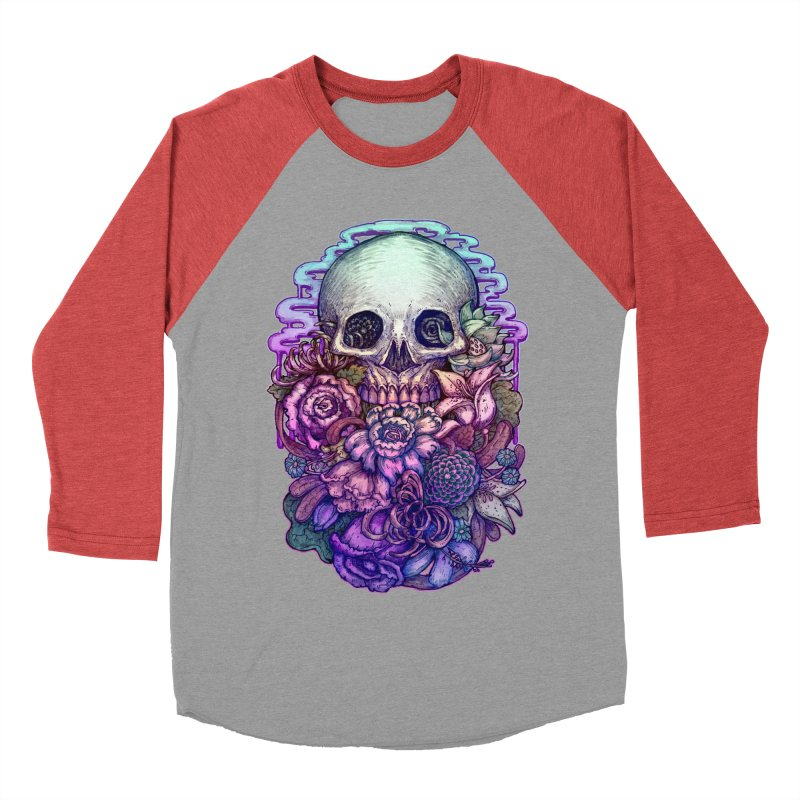 Dead and Dry flowers Women's Baseball Triblend T-Shirt by villainmazk's Artist Shop