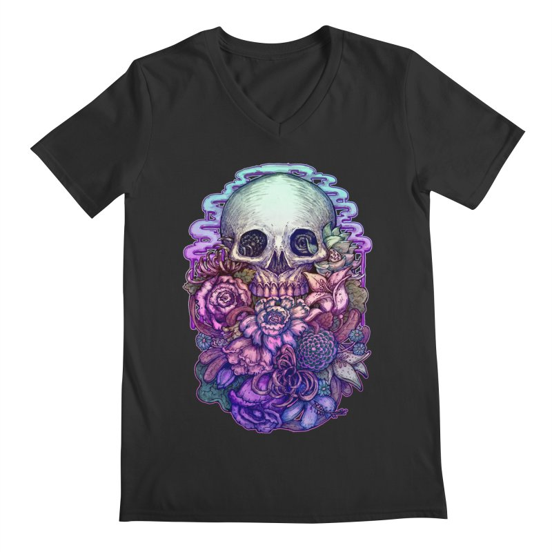 Dead and Dry flowers Men's V-Neck by villainmazk's Artist Shop