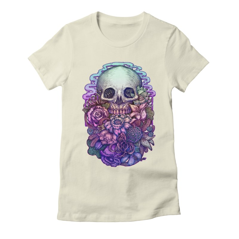 Dead and Dry flowers Women's Fitted T-Shirt by villainmazk's Artist Shop