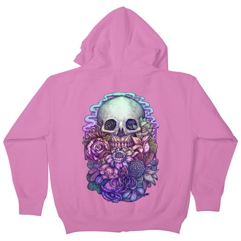 Dead and Dry flowers Kids Zip-Up Hoody by villainmazk's Artist Shop