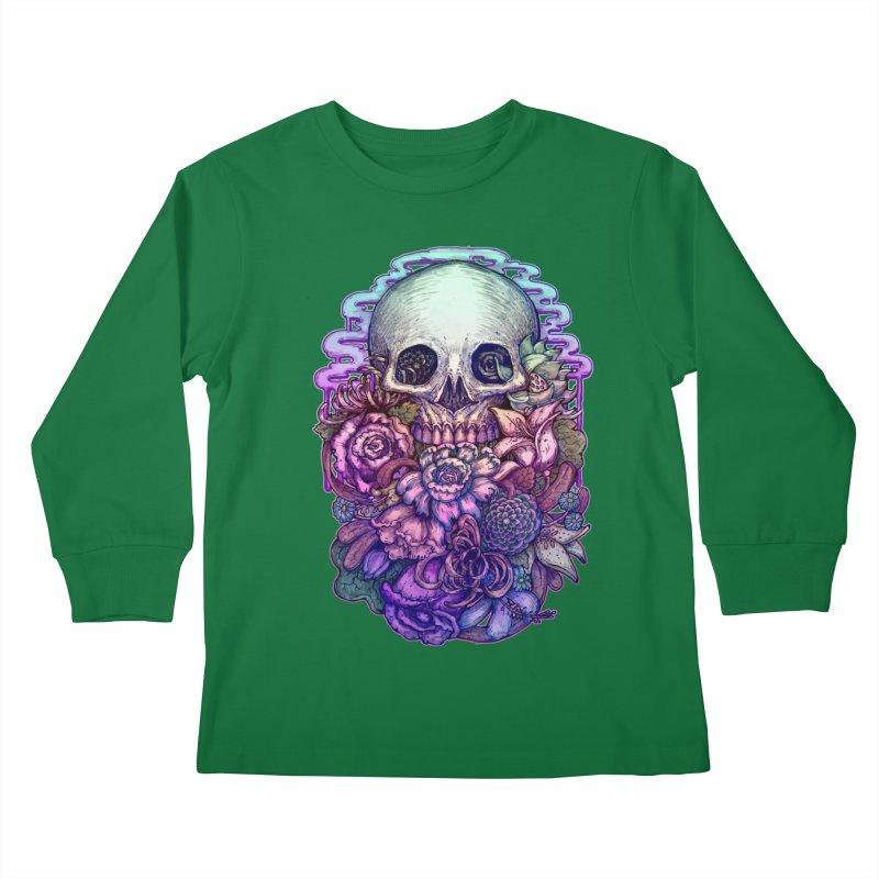 Dead and Dry flowers Kids Longsleeve T-Shirt by villainmazk's Artist Shop