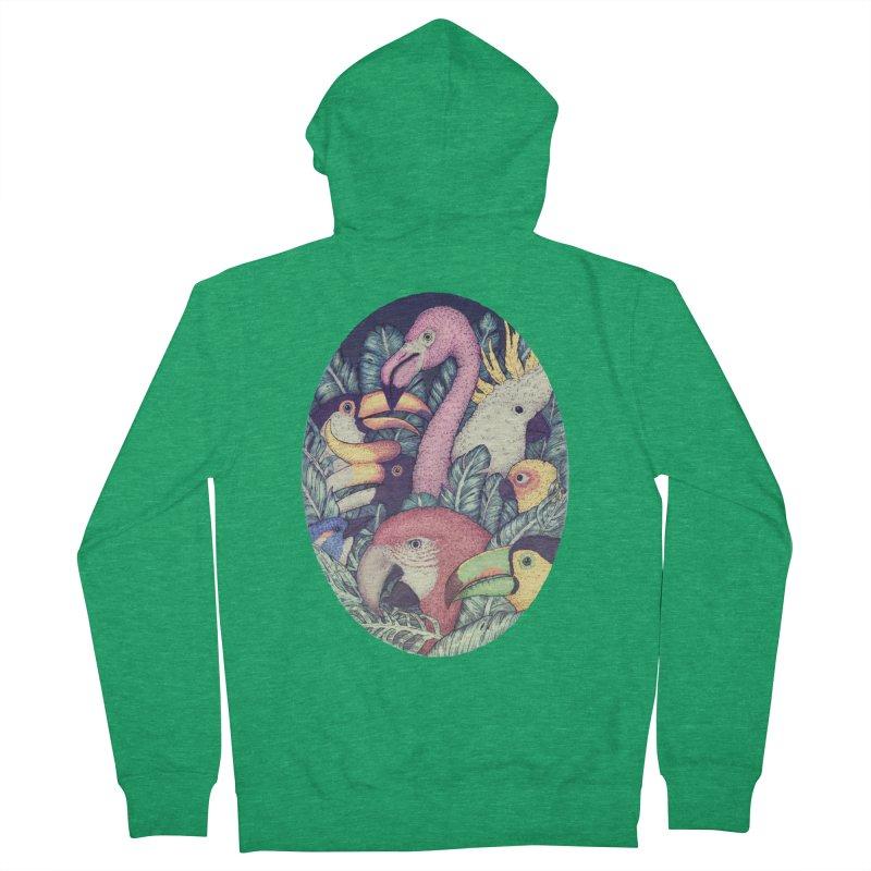 The Jungle Birds Men's Zip-Up Hoody by villainmazk's Artist Shop