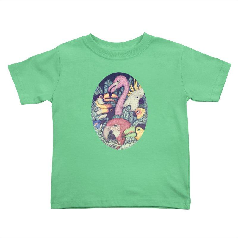 The Jungle Birds Kids Toddler T-Shirt by villainmazk's Artist Shop