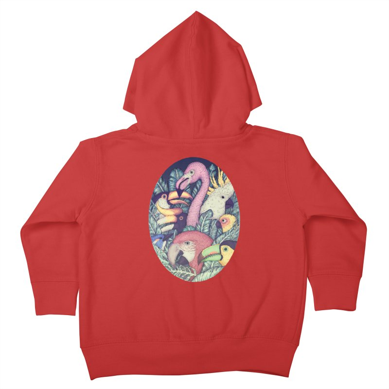The Jungle Birds Kids Toddler Zip-Up Hoody by villainmazk's Artist Shop