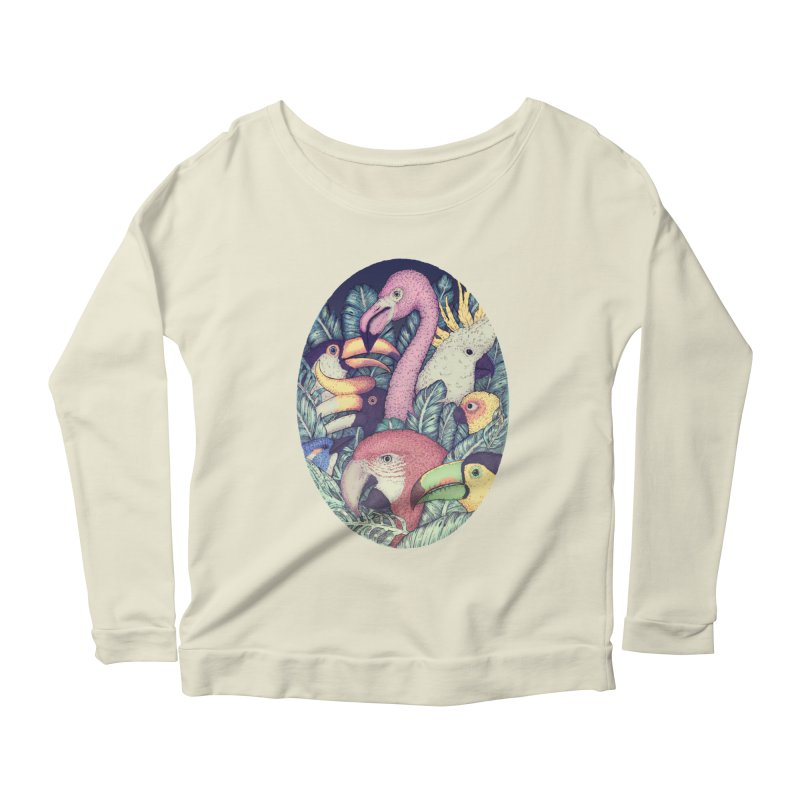 The Jungle Birds Women's Longsleeve Scoopneck  by villainmazk's Artist Shop