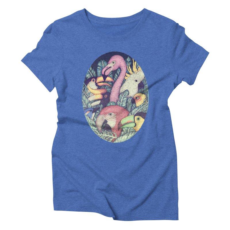 The Jungle Birds Women's Triblend T-shirt by villainmazk's Artist Shop