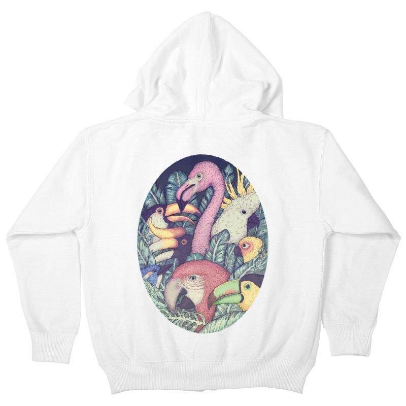 The Jungle Birds Kids Zip-Up Hoody by villainmazk's Artist Shop