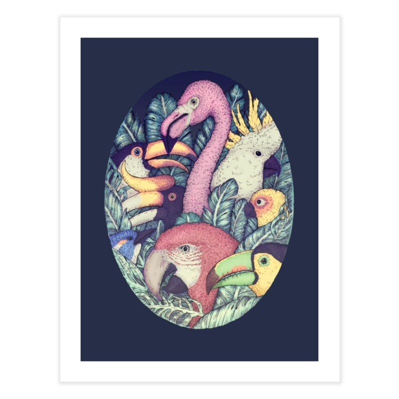 The Jungle Birds Home Fine Art Print by villainmazk's Artist Shop