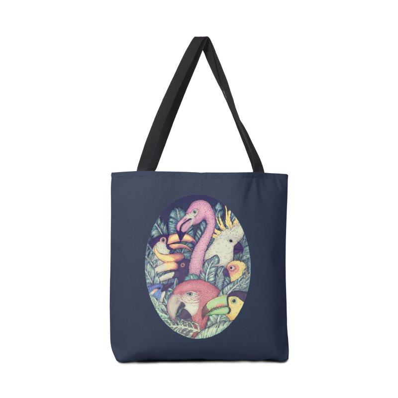 The Jungle Birds Accessories Bag by villainmazk's Artist Shop