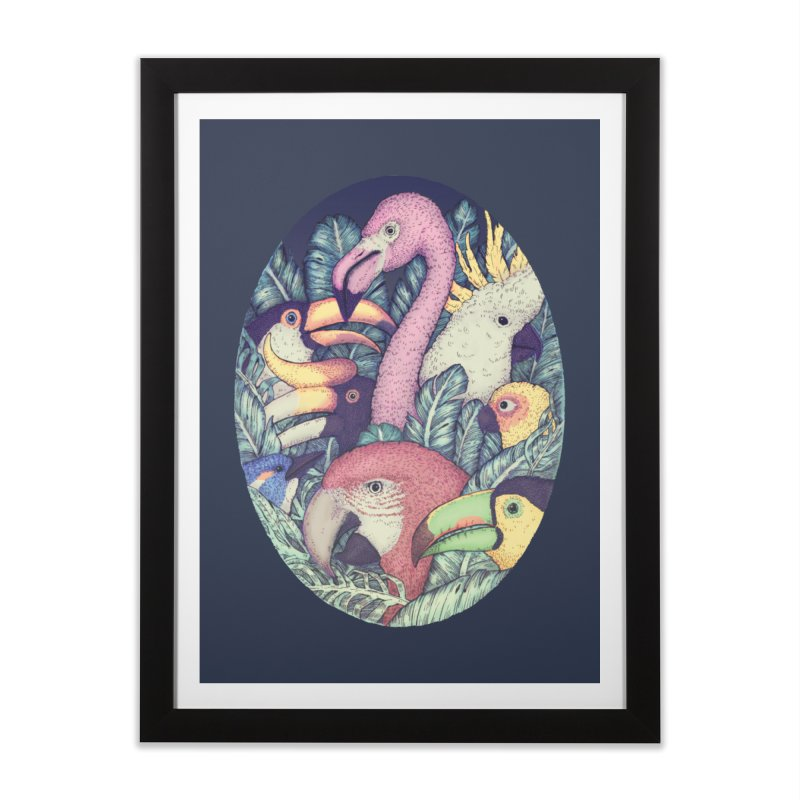 The Jungle Birds Home Framed Fine Art Print by villainmazk's Artist Shop