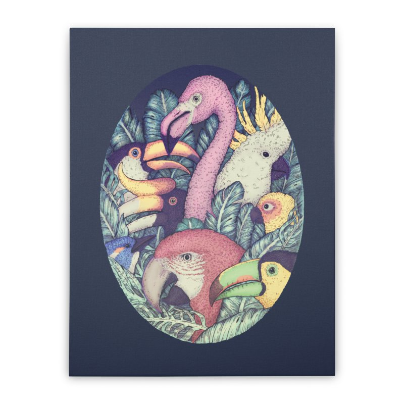 The Jungle Birds Home Stretched Canvas by villainmazk's Artist Shop