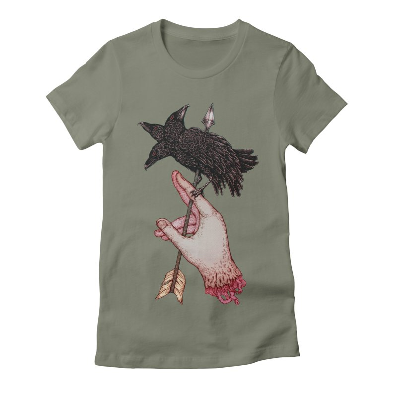 Three Times Unlucky Women's Fitted T-Shirt by villainmazk's Artist Shop
