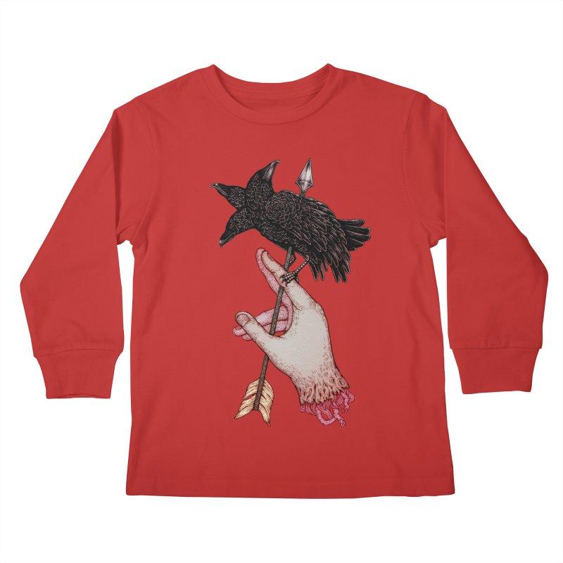Three Times Unlucky Kids Longsleeve T-Shirt by villainmazk's Artist Shop