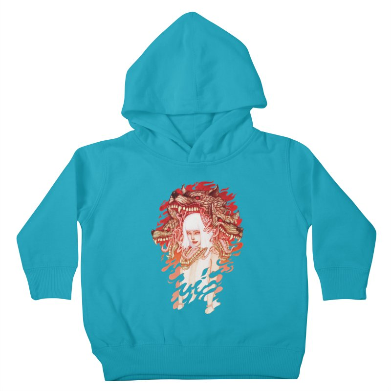 GUARDIAN OF THE HELL GATE Kids Toddler Pullover Hoody by villainmazk's Artist Shop