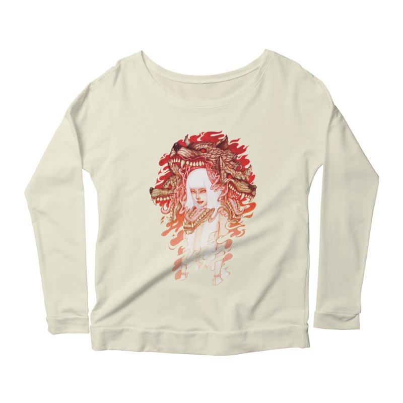 GUARDIAN OF THE HELL GATE Women's Longsleeve Scoopneck  by villainmazk's Artist Shop