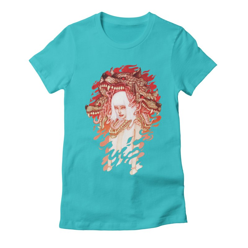 GUARDIAN OF THE HELL GATE Women's Fitted T-Shirt by villainmazk's Artist Shop