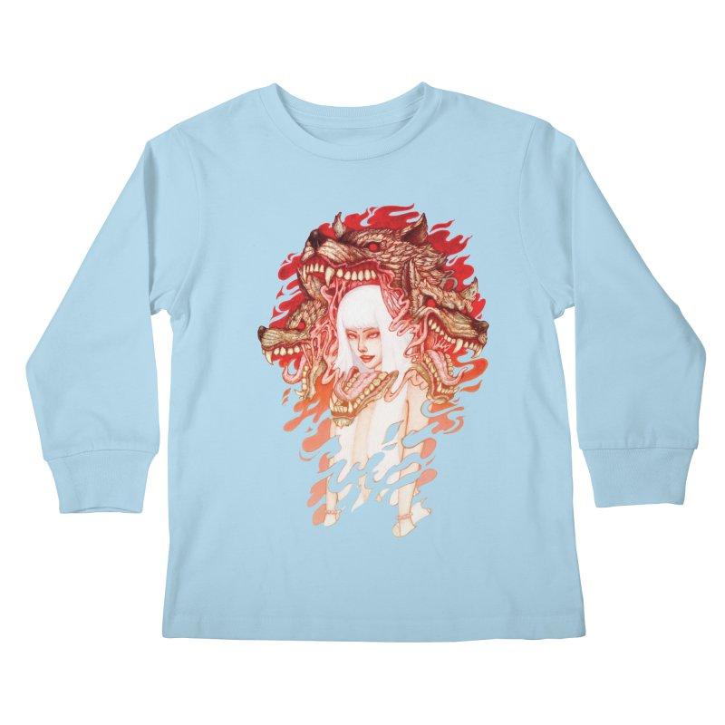 GUARDIAN OF THE HELL GATE Kids Longsleeve T-Shirt by villainmazk's Artist Shop
