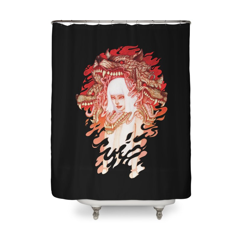 GUARDIAN OF THE HELL GATE Home Shower Curtain by villainmazk's Artist Shop