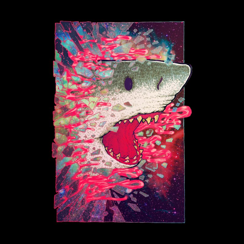 SHARK FROM OUTER SPACE Kids T-Shirt by villainmazk's Artist Shop