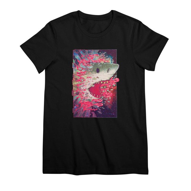 SHARK FROM OUTER SPACE Women's Premium T-Shirt by villainmazk's Artist Shop