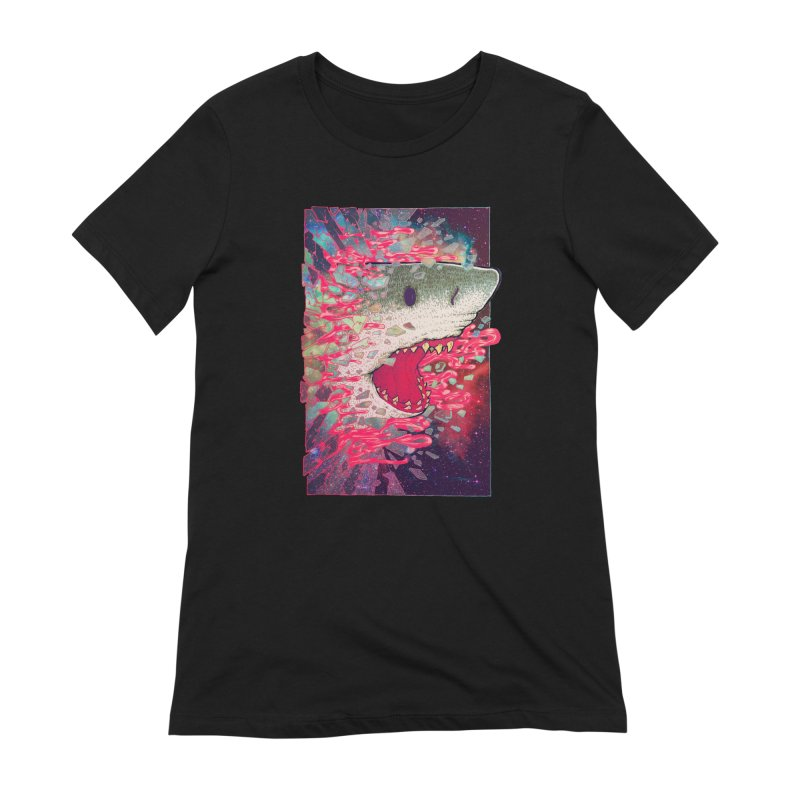 SHARK FROM OUTER SPACE Women's T-Shirt by villainmazk's Artist Shop