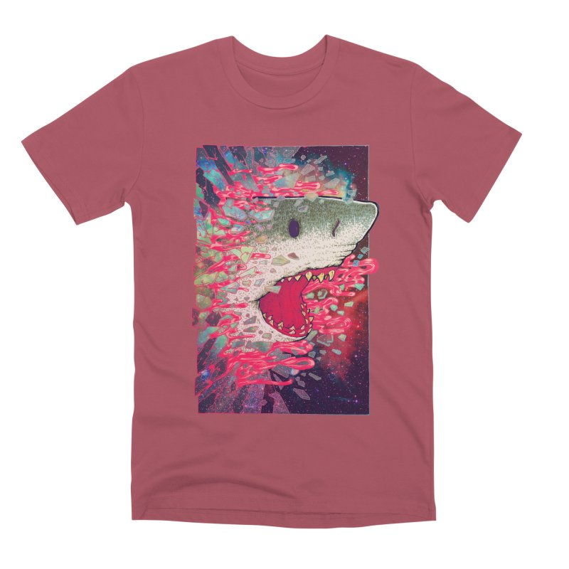 SHARK FROM OUTER SPACE Men's Premium T-Shirt by villainmazk's Artist Shop