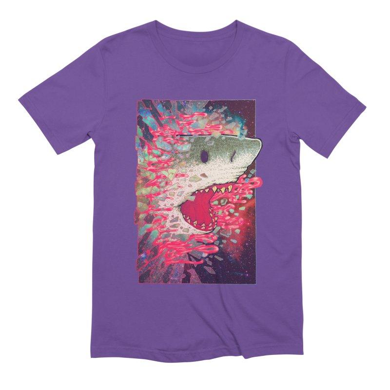 SHARK FROM OUTER SPACE Men's T-Shirt by villainmazk's Artist Shop