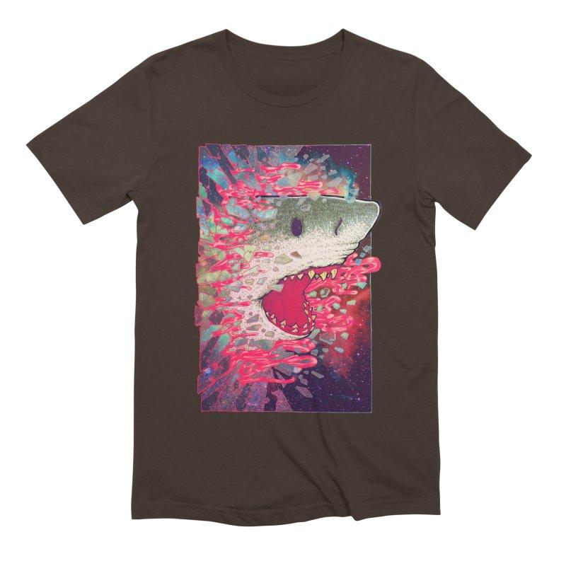 SHARK FROM OUTER SPACE Men's Extra Soft T-Shirt by villainmazk's Artist Shop