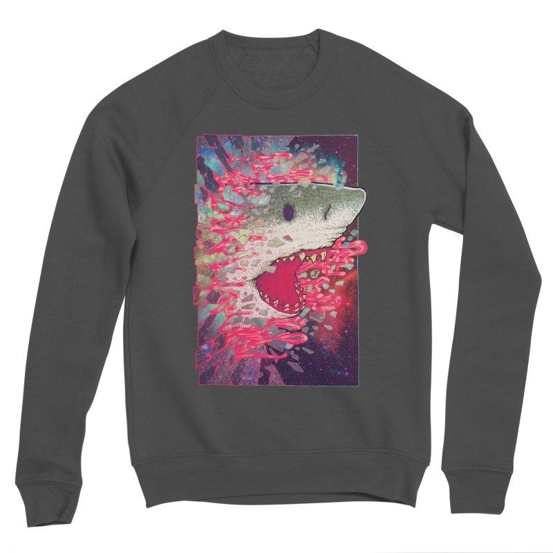 SHARK FROM OUTER SPACE Men's Sponge Fleece Sweatshirt by villainmazk's Artist Shop