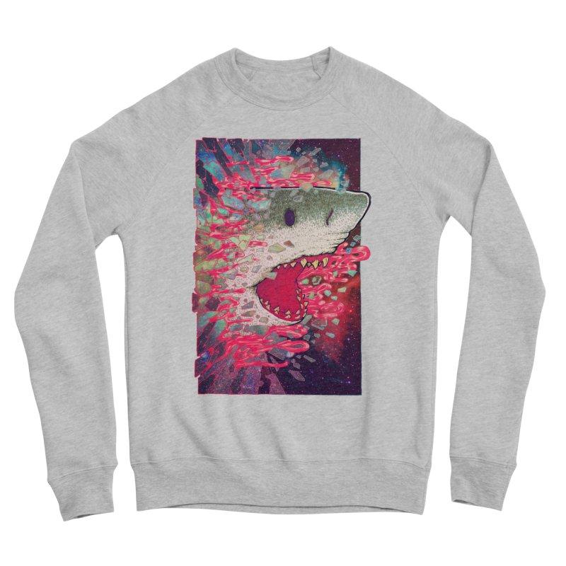 SHARK FROM OUTER SPACE Women's Sponge Fleece Sweatshirt by villainmazk's Artist Shop