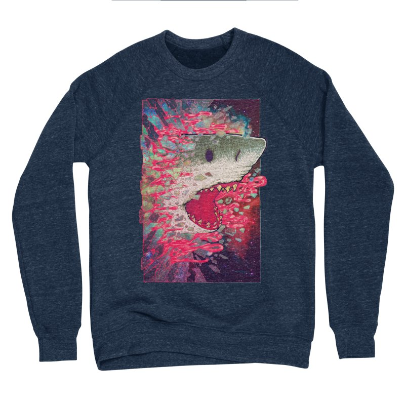 SHARK FROM OUTER SPACE Men's Sponge Fleece Sweatshirt by villainmazk's Artist Shop