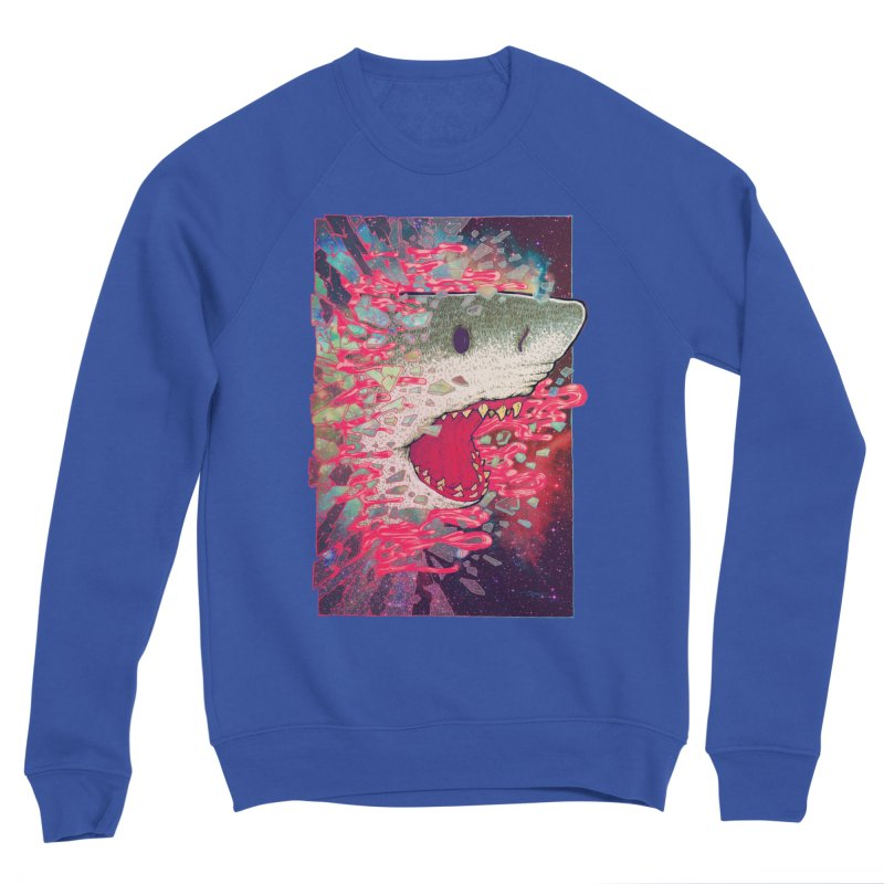 SHARK FROM OUTER SPACE Women's Sponge Fleece Sweatshirt by villainmazk's Artist Shop