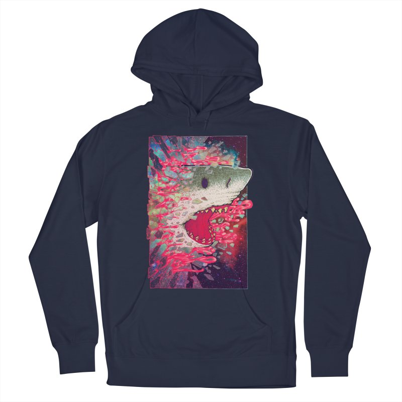 SHARK FROM OUTER SPACE Women's Pullover Hoody by villainmazk's Artist Shop