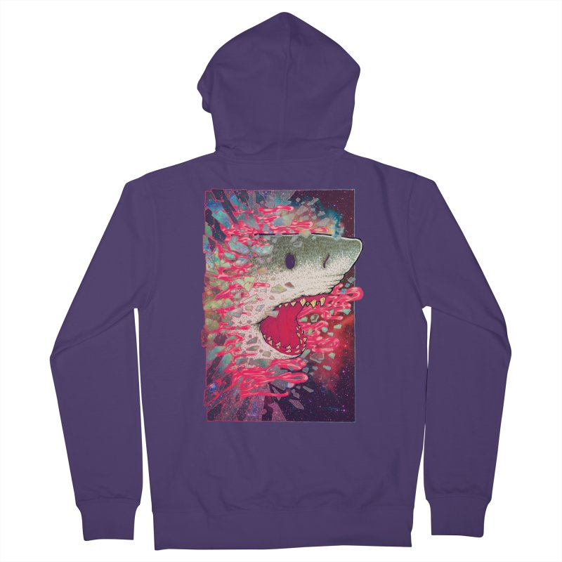 SHARK FROM OUTER SPACE Women's Zip-Up Hoody by villainmazk's Artist Shop